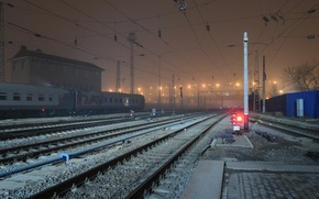 Picture night, the way, station, railroad, Rostov-on-don