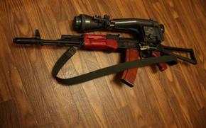 Picture weapons, machine, optics, Kalashnikov, AKS
