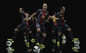 Picture Sport, Football, FC Barcelona, FC Barcelona, Andres Iniesta, Andres Iniesta, Barca, Nike, Cleats, NIke