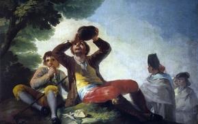 Wallpaper thirst, picture, genre, Francisco Goya, Drinking