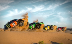 Picture Red, Yellow, Green, Orange, Mini Cooper, Dakar, Start, Power, Four, MINI, Mini Cooper, For The ...