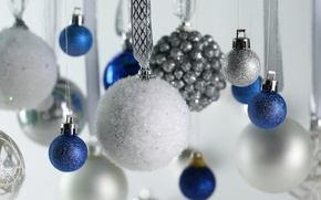 Picture balls, decoration, new year, Christmas