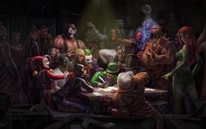 Picture Joker, The Cossacks writing letter to Turkish Sultan, Ilya Repin, Batman, Two-faced, Penguin, DC Comics, …