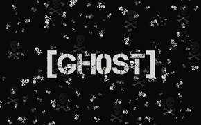 Picture sake, black, ghost