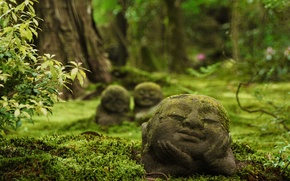 Picture Japan, temple, Japan, Kyoto, sculpture, Ohara, Sanzen-in Temple