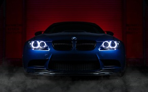 Picture BMW, BMW, blue, front, E92