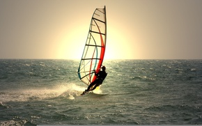 Picture water, man, equipment, windsurfing