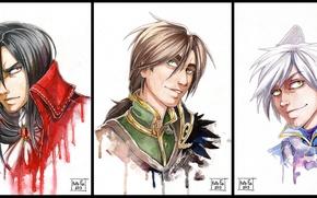 Picture anime, vampire, guy, guys, werewolf
