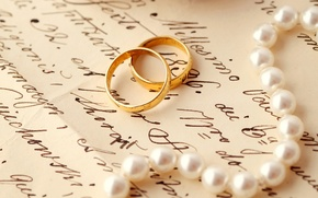 Picture letter, ring, pearl, wedding, wedding