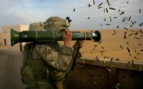 Wallpaper weapons, soldiers, sleeve, at4-hs, Bazooka