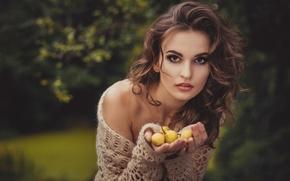 Picture look, girl, pear, photographer, Julia Sariy