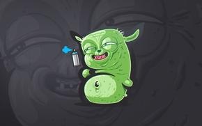 Picture graffiti, laughter, wars, yoda, sticker, trollface, Troll