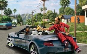 Picture Grand Theft Auto V, GTA 5, Trevor, Trevor Phillips, Chop, Chop