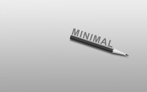 Picture the inscription, minimalism, pencil, minimalism, the word, 1920x1200, lettering, word, pencil