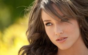 Picture girl, brunette, Malena Morgan