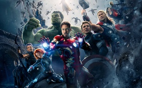Picture Scarlett Johansson, Heroes, Hulk, Iron Man, The, Captain America, Thor, Black Widow, Robert Downey Jr., …