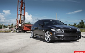 Picture BMW, black, 5 series, f10, vossen