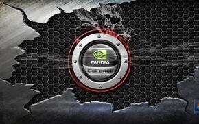 Wallpaper Nvidia, windows, Hi-Tech, metal, steel
