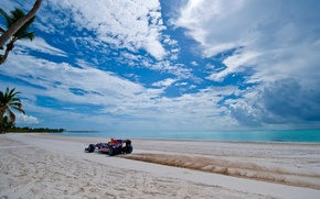 Picture The sky, Sand, Clouds, Sea, Beach
