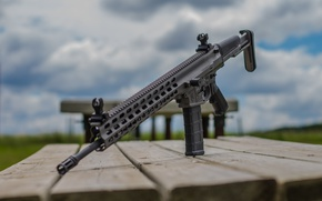 Wallpaper background, assault rifle, weapons, style, Arms XCR