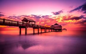 Picture landscape, the ocean, dawn, horizon, pierce