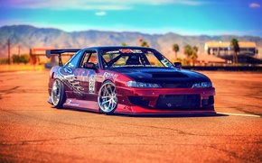 Picture Silvia, Nissan, sun, S14, race car