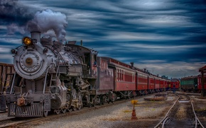 Picture train, the engine, station