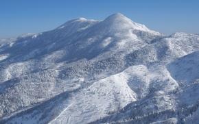 Wallpaper slope, snow, winter, blue, Mountain, Japan, Ecote