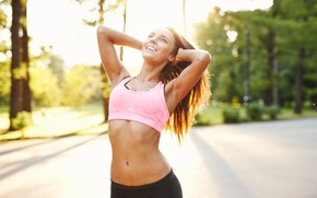 Picture summer, girl, smile, hair, fitness