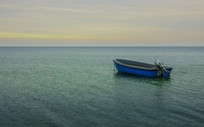 Picture sea, seascape, horizon, boat, ocen