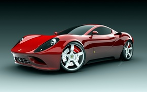 Wallpaper red, ferrari, machine
