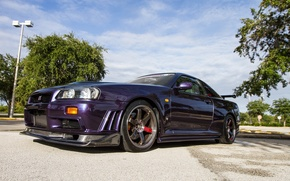 Picture nissan, skyline, gtr, carbon, r34