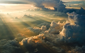 Wallpaper clouds, sunrise, height, morning