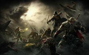 Picture fantasy, magic, art, battle, elf, Elder Scrolls Online