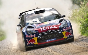 Picture Citroen, Machine, DS3, Lights, Citroen, Auto, Race, The front, The hood, WRC, Rally, Sport, Red ...