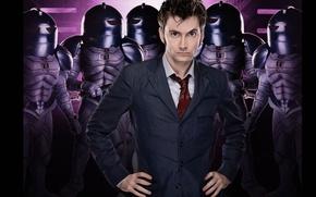 Picture look, costume, tie, helmet, male, armor, aliens, Doctor Who, aliens, Doctor Who, David Tennant, David ...