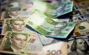Picture money, dollars, Ukraine, currency, the hryvnia