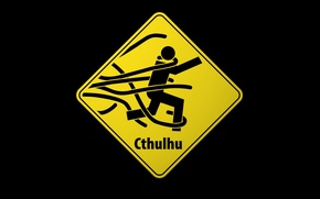 Picture sign, Cthulhu, attention, tentacles