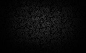 Picture light, patterns, black background