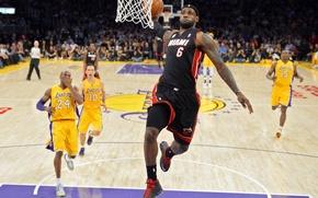 Picture Miami, NBA, Basketball, james, Heat, Lebron James, Miami heat, Dunk, Lebron, LBJ