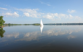 Picture Lake, Yacht, Summer, Sail, Thank, Karavella