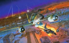 Picture figure, battle, art, Me - 262A - 1a