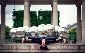 Picture rain, twine, stretching, gymnast, Gemma Vassallo