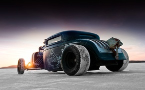 Picture cars, Hot Rod, landscapes, Rat look