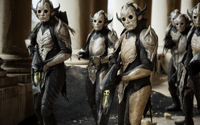 Picture weapons, mask, aliens, Thor: The Dark World, dark elves, Thor 2 the dark world