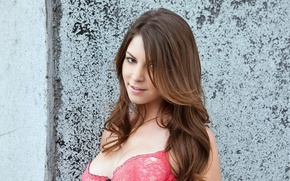 Picture Girl, Red, Amber Sym, Smiling