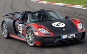 Picture background, lights, Prototype, Porsche, Porsche, Spyder, 918, the front, Prototype, Spider