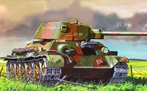 Picture Don Greer, medium tank, figure, the red army, t-34/76