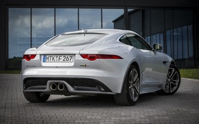 Picture reflection, Jaguar, garage, Parking, rear view, F-Type S, Coupe AWD