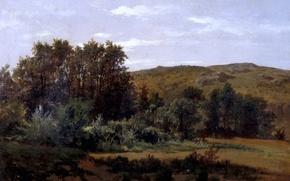 Picture trees, landscape, nature, picture, Carlos de Haes, Arboleda